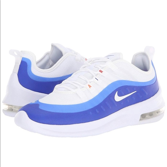 NEW MEN/'S NIKE AIR MAX AXIS SNEAKERS AA2146-104 WHITE// RACER BLUE